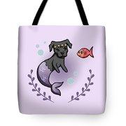 Mermaid Pit Bull 2 Tote Bag