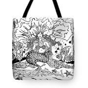 Mermaid Queen Tote Bag