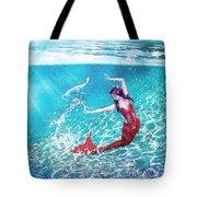 Mermaid Red Tote Bag