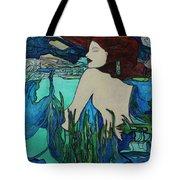 Mermaid  Sleeping Tote Bag