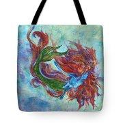 Mermaid Swimming Tote Bag
