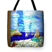 Mermaid Window  Tote Bag