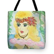 Mermaid With Music  Tote Bag