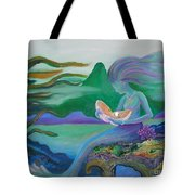 Mermaid With Oyster Tote Bag
