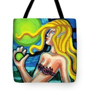 Mermaid With Pearl Tote Bag
