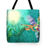 Mermaid's Garden Tote Bag