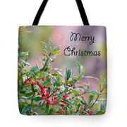 Merry Christmas - Berries Tote Bag
