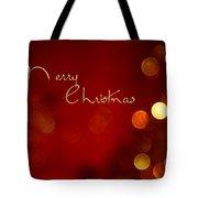 Merry Christmas Card - Bokeh Tote Bag
