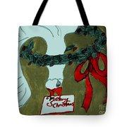 Merry Christmas Goose Tote Bag