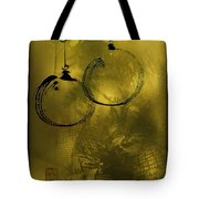 Merry Christmas Greetings In Soft Yellow Tote Bag