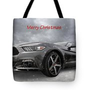 Merry Christmas Mustang S550 Tote Bag