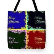 Merry Christmas Pop Art Tote Bag