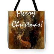 Merry Christmas Reindeer 2 Tote Bag