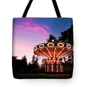 Merry - Go - Round At Sunset Tote Bag