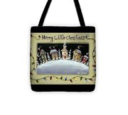 Merry Little Christmas Hill Tote Bag