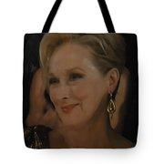 Meryl Streep Receiving The Oscar As Margaret Thatcher  Tote Bag