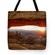 Mesa Arch Sunrise - Canyonlands National Park - Moab Utah Tote Bag by Brian Harig