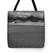 Mesquite Dunes Black And White Tote Bag
