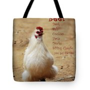Message From A Chicken Tote Bag