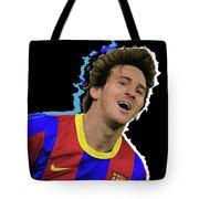 Messi 3498 By Nicholas Nixo Efthimiou Tote Bag