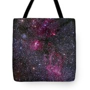 Messier 52 And The Bubble Nebula Tote Bag