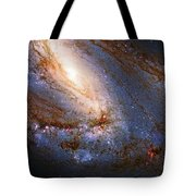 Messier 66 Galaxy Enhanced Tote Bag