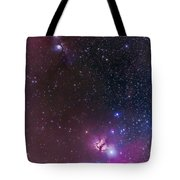 Messier 78 & Horsehead Nebula In Orion Tote Bag