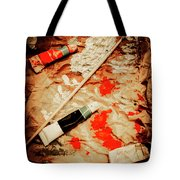 Messy Painters Palette Tote Bag