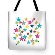 Messy Stars- Shirt Tote Bag by Linda Woods