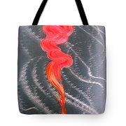 Metal Art Print On Aluminum - Koi Fish Art On Metal - Abstract Fine Art Print - Koi Fish Breaking Fr Tote Bag