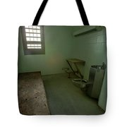 Metal Bed Inside Solitary Confinement Cell Tote Bag
