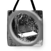 Metal Bench In Sedona Tote Bag