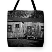 Metal Building On The Grounds At Fort Delaware Near Delaware City Tote Bag