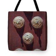 Metal Door Ornaments Tote Bag