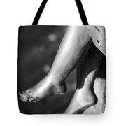 Metal Legs Black And White Tote Bag