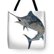 Metal Marlin Tribal Tote Bag