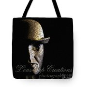 Metal Mask Silhouette Tote Bag