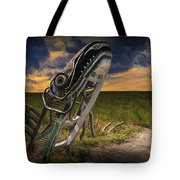 Metal Monster Emerging From The Earth Tote Bag