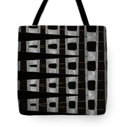 Metal Panel With Holes Abstract Tote Bag
