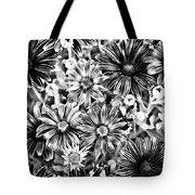 Metal Petals Tote Bag