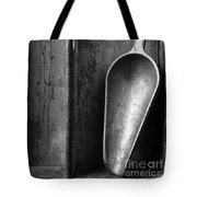 Metal Scoop In Wooden Box Still Life Tote Bag