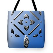 Metallic Blue Tote Bag