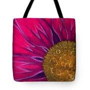 Metallic Flowers Tote Bag