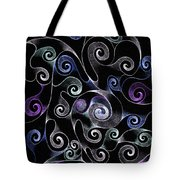 Metallic Swirls Tote Bag