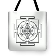 Metatron's Cube - Black Tote Bag