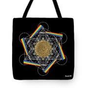 Metatron's Rainbow Healing Vortex Tote Bag