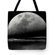 Meteor Crater Moon Tote Bag