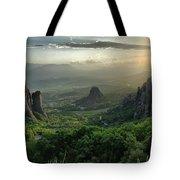 Meteora Greece Sunset Tote Bag