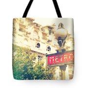 Metro Sign Paris Shabby Chic Tote Bag