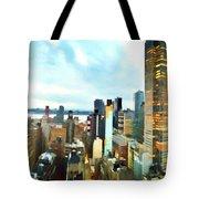 Metro Skyline Tote Bag